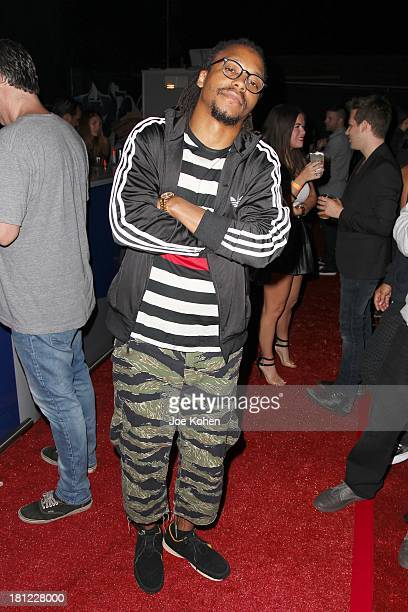 Singer Lupe Fiasco attends the launch Party For Linkin Park Soundwave Transformers Special Editon Action Figure at Suru on September 19 2013 in Los...