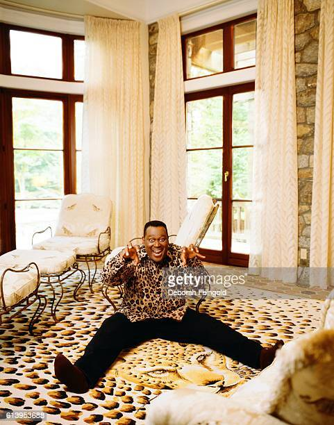 Singer Luther Vandross at home July 1998 in Greenwich Connecticut