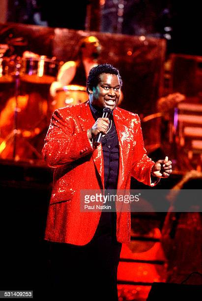 Singer Luther Vandross performs Chicago Illinois January 12 1984
