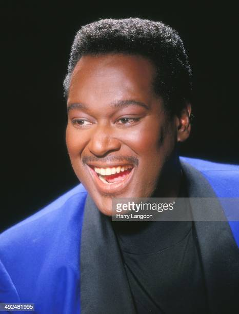 Singer Luther Vandross poses for a portrait in 1995 in Los Angeles California
