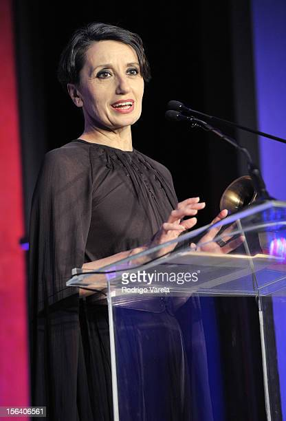 Singer Luz Casal accepts her Lifetime Achievement Award at the 2012 Latin Recording Academy Special Awards during the 13th annual Latin GRAMMY Awards...