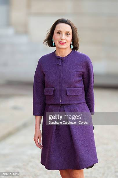 Singer Luz Casal arrives for the State Dinner at the State Dinner offered by French President François Hollande at the Elysee Palace on June 2 2015...