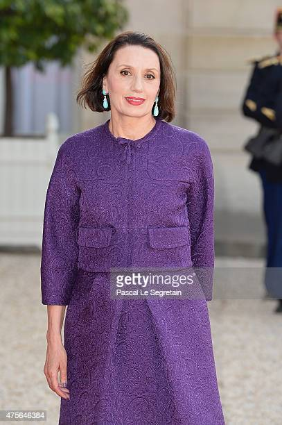 Singer Luz Casal arrives for the State Dinner Offered By French President François Hollande at the Elysee Palace on June 2 2015 in Paris France