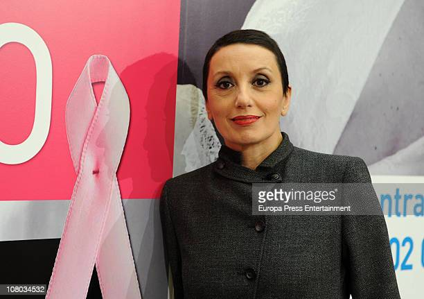 Singer Luz Casal attends a press conference to announce details of a charity concert to raise funds for breast cancer at Real Casa de Correos on...