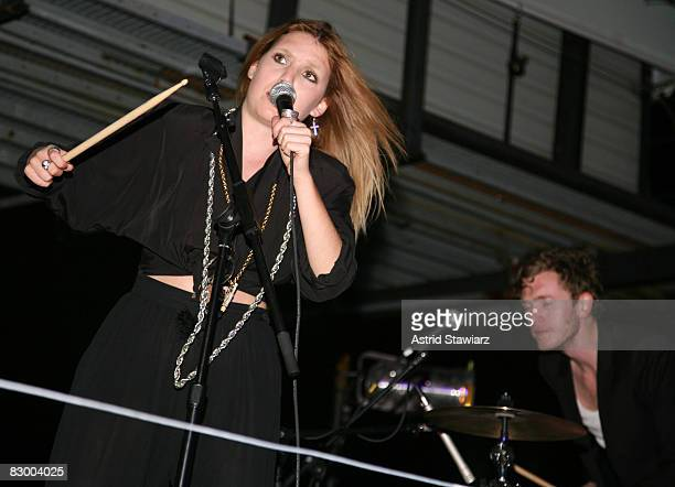 """Singer Lykke Li performs at the """"Mini Rooftop NYC"""" Hosts V Magazine Celebration at One Space on September 10, 2008 in New York City"""