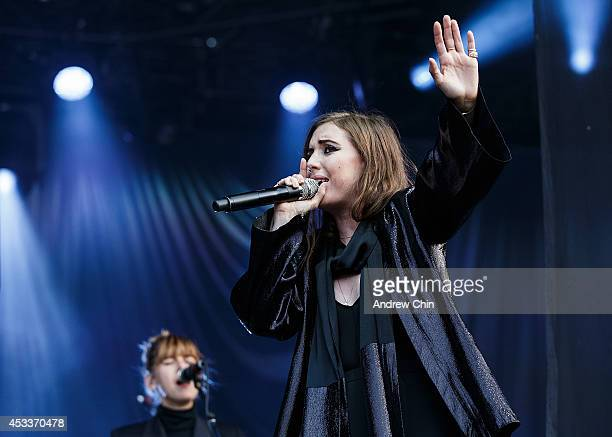 Singer Lykke Li performs on stage during Day 1 of Squamish Valley Music Festival on August 8 2014 in Squamish Canada