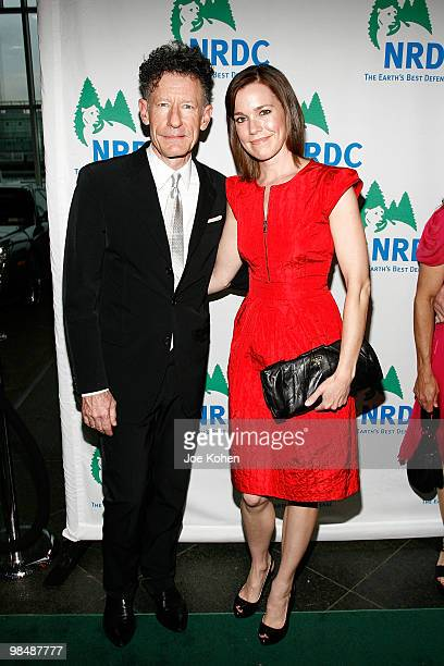 Singer Lyle Lovett and April Kimble attend the 12th annual Forces for Nature gala benefit at Pier Sixty at Chelsea Piers on April 15 2010 in New York...