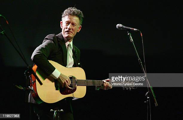 Singer Lyle Lovett of Lyle Lovett His Accoustic Group performs at Villa Arconati on July 21 2011 in Bollate Italy