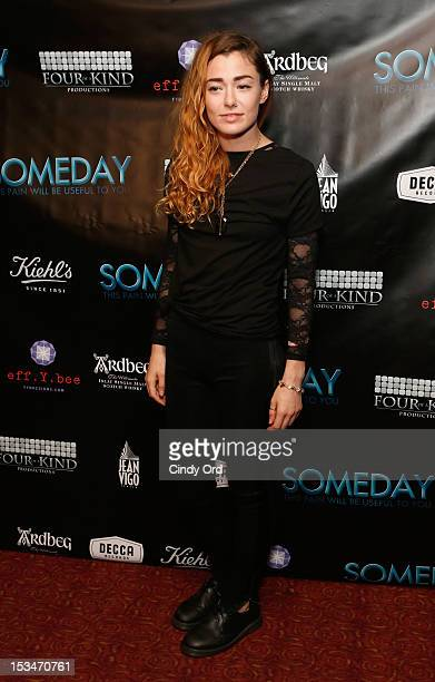 Singer Lyndsey Critchley attends the 'Someday This Pain Will Be Useful To You' New York Screening at Village East Cinema on October 5 2012 in New...