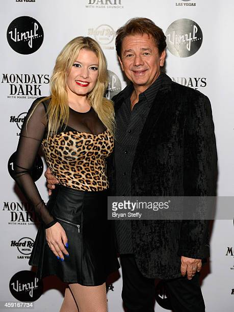 Singer Lyssa Lynne and actor Adrian Zmed arrive at Mondays Dark with Mark Shunock Benefiting Vegas Shepherd Rescue Vinyl inside the Hard Rock Hotel...