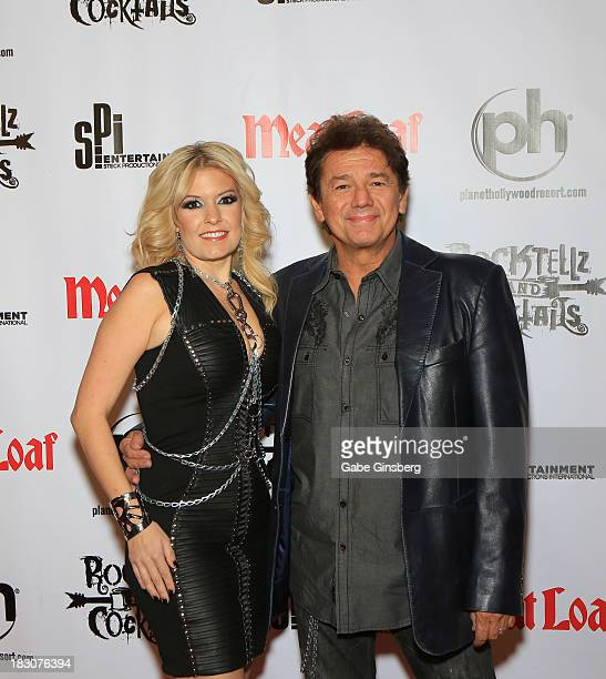 Singer Lyssa Lynne and her husband actor Adrian Zmed arrive at the show RockTellz CockTails presents Meat Loaf at Planet Hollywood Resort Casino on...