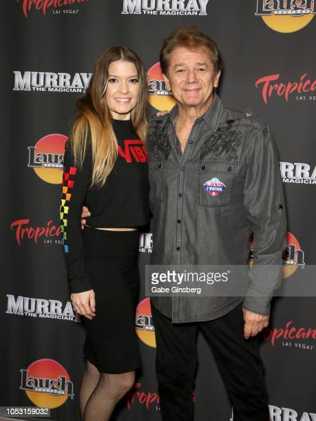 Singer Lyssa Lynne and her husband actor Adrian Zmed attend the opening of Murray the Magician at the Laugh Factory inside the Tropicana Las Vegas on...