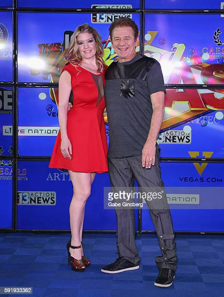 Singer Lyssa Lynne and her husband actor Adrian Zmed attend the launch of The Weekend in Vegas live entertainment and news program at The Linq...