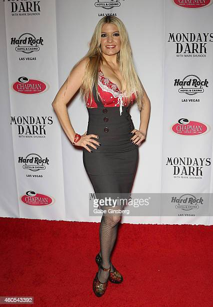 Singer Lyssa Lynne arrives at Mondays Dark anniversary bash at The Joint inside the Hard Rock Hotel Casino on December 15 2014 in Las Vegas Nevada