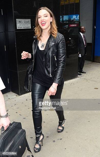 Singer Lzzy Hale is seen tape a segment at 'Good Morning America' at the ABC Times Square Studios on July 15 2014 in New York City