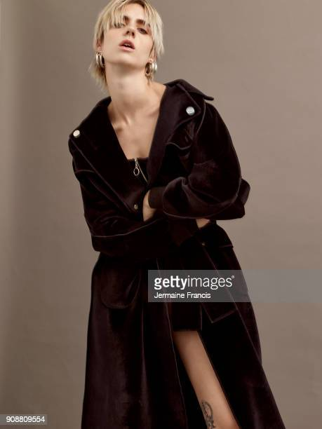 Singer Mÿ aka Karen Marie Aagaard ÿrsted Andersen is photographed for Out magazine on September 10 2017 in London England