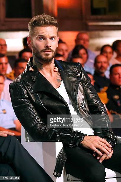 Singer M Pokora attends the 'Une Nuit avec la Police et la Gendarmerie' France 2 TV Show Held at Ministere de l'Interieur in Paris on June 30 2015 in...