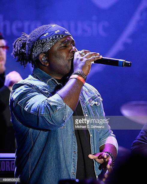 Singer Mabvuto Carpenter of Toto performs during his appearance at the weSpark Cancer Support Center Benefit Concert 'An Evening with Michael...