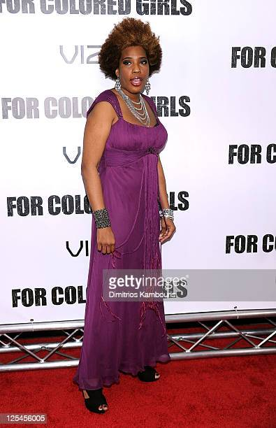 """Singer Macy Gray attends the premiere of """"For Colored Girls"""" at the Ziegfeld Theatre on October 25, 2010 in New York City."""