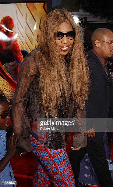 "Singer Macy Gray attends the premiere of ""Spider-Man"" April 29, 2002 in Westwood, CA."