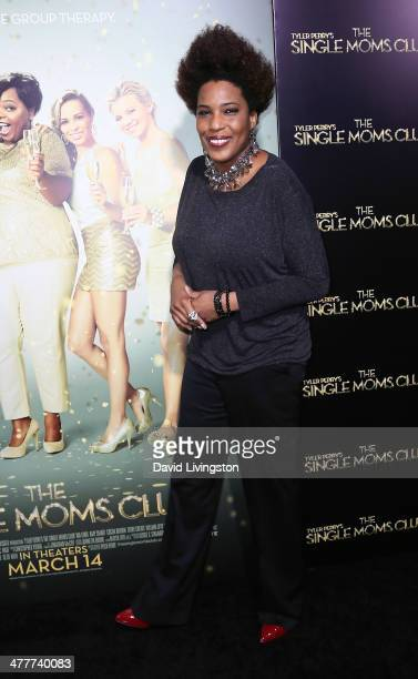 Singer Macy Gray attends the premiere of Tyler Perry's The Single Moms Club at the ArcLight Cinemas Cinerama Dome on March 10 2014 in Hollywood...