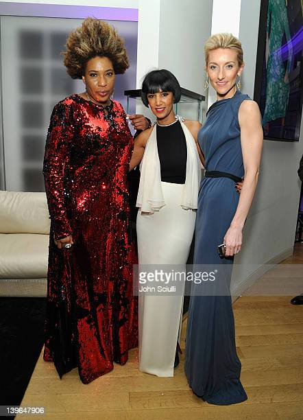 Singer Macy Gray, founder of Dream for Africa Foundation Gelila Puck and Vertu's Casey Gorman attend Vertu and Gelila and Wolfgang Puck Celebrate the...