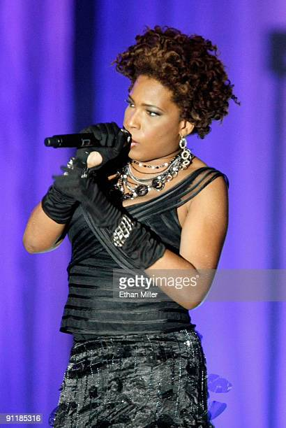 Singer Macy Gray performs at the 14th annual Andre Agassi Charitable Foundation's Grand Slam for Children benefit concert at the Wynn Las Vegas...