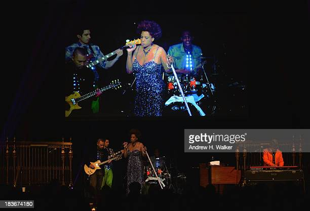 Singer Macy Gray performs at the Lupus Foundation Of America National Gala at Gotham Hall on October 8 2013 in New York City
