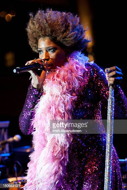 Singer Macy Gray performs onstage at The Americana at Brand on August 23 2012 in Glendale California