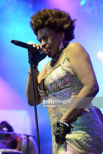 Singer Macy Gray performs onstage during the KAABOO Del Mar VIP Opening Night on September 15 2016 in Del Mar California