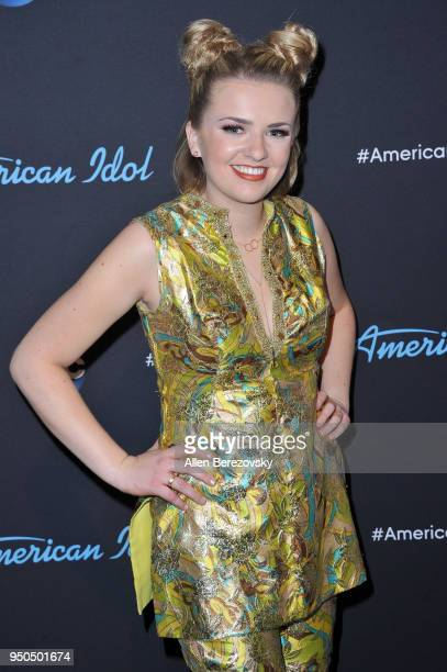 Singer Maddie Poppe arrives at ABC's 'American Idol' show on April 23 2018 in Los Angeles California