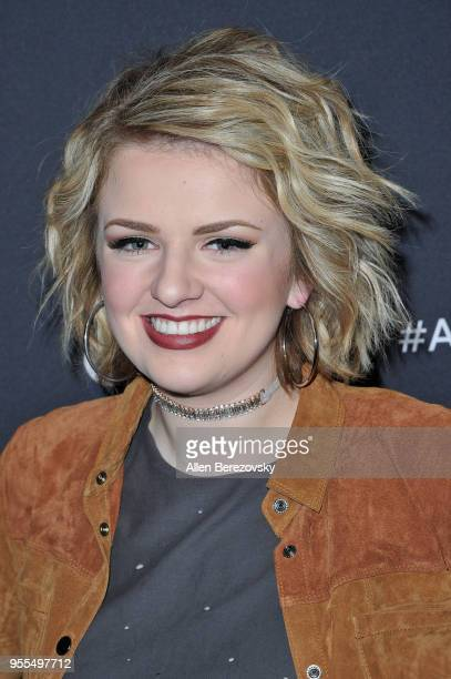 Singer Maddie Poppe arrives at ABC's 'American Idol' show on May 6 2018 in Los Angeles California