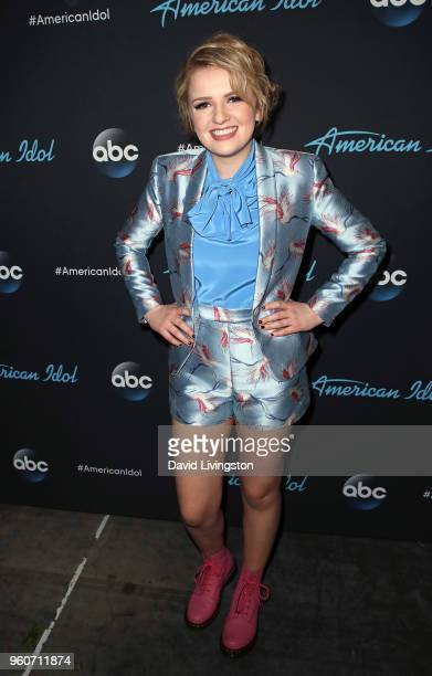 Singer Maddie Poppe poses at ABC's American Idol on May 20 2018 in Los Angeles California