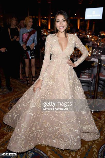 Singer Madison Beer attends the 19th Annual amfAR New York Gala at Cipriani Wall Street on February 8 2017 in New York City