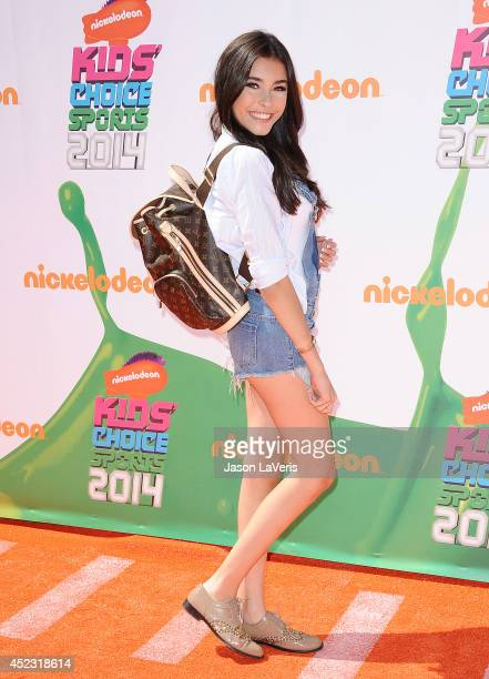 Singer Madison Beer attends the 2014 Nickelodeon Kids' Choice Sports Awards at Pauley Pavilion on July 17 2014 in Los Angeles California