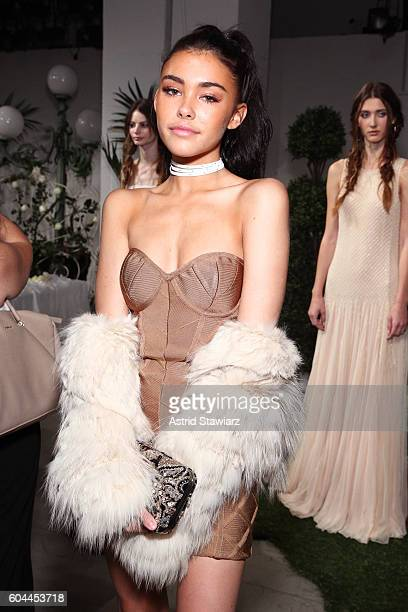 Singer Madison Beer attends the Alice + Olivia by Stacey Bendet Spring/Summer 2017 Presentation during New York Fashion Week September 2016 at The...