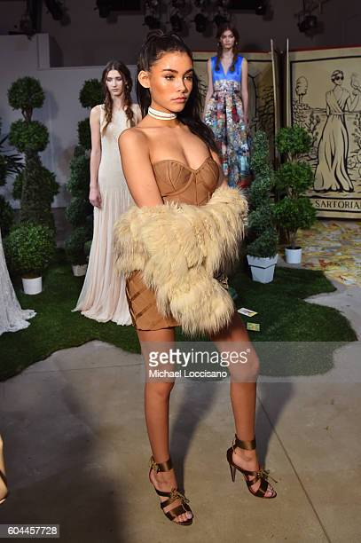 Singer Madison Beer attends the Alice + Olivia by Stacey Bendet Spring/Summer 2017 Presentation during New York Fashion Week September 2016 at...