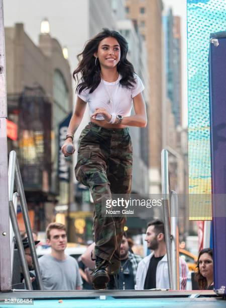 Singer Madison Beer speaks onstage at Elvis Duran's 2017 Summer Bash at the Pennsy Plaza on July 27 2017 in New York City