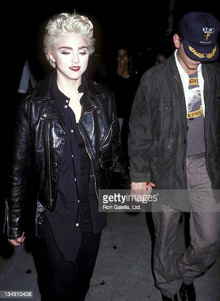 """Singer Madonna and actor Sean Penn leave for the Lincoln Center's Workshop Production of """"Goose and Tomtom"""" Opening Night Party on August 28, 1986 at..."""