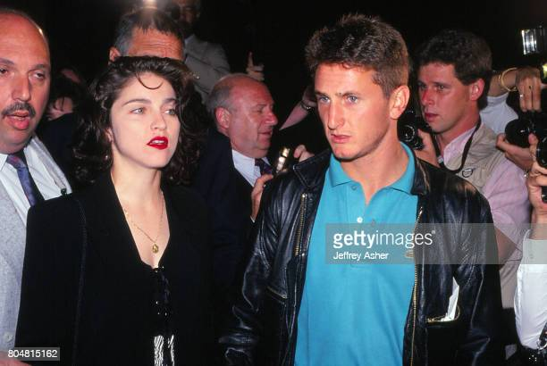Singer Madonna and Actor Sean Penn ringside at Tyson vs Holmes fight Convention Hall in Atlantic City, New Jersey January 22 1988.