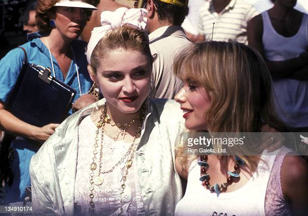 Singer Madonna and actress Rosanna Arquette attend the PROPeace Public Service Announcement for the Great Peace March for Global Nuclear Disarmament...