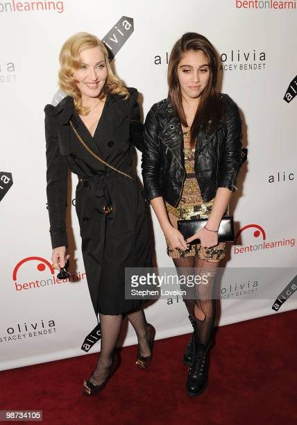 Singer Madonna and daughter Lourdes Leon attend the 2nd Annual Bent on Learning Benefit at The Puck Building on April 28 2010 in New York City