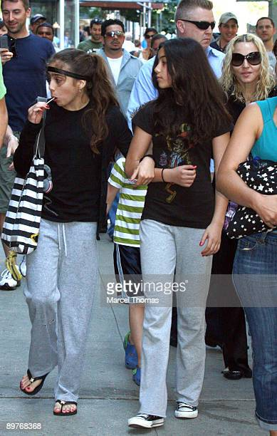Singer Madonna and daughter Lourdes Leon seen leaving the AMC Loews Lincoln Square Cinema on July 13 2008 in New York City