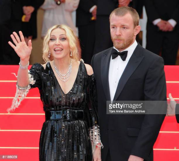 Singer Madonna and director Guy Richie attend the I Am Because We Are premiere at the Palais des Festivals during the 61st International Cannes Film...