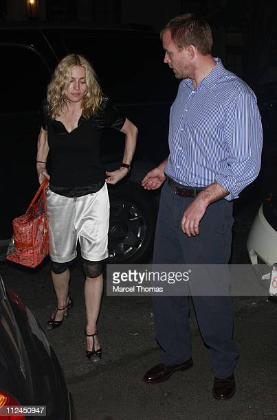 Singer Madonna and Guy Ritchie visit Cesca restaurant in Manhattan on July 1 2008 in New York City