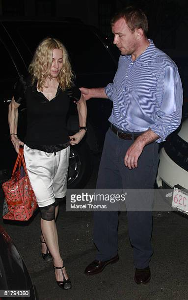 Singer Madonna and husband director Guy Ritchie visit Cesca resturant in Manhattan on July 1 2008 in New York City