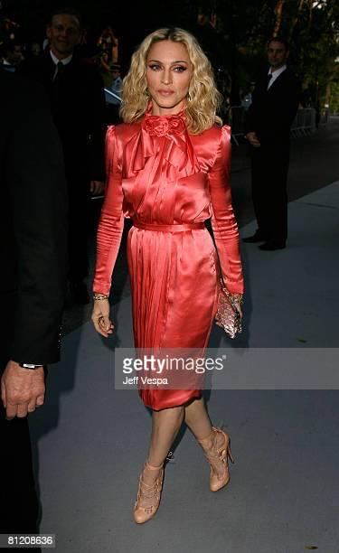 Singer Madonna arrives at amfAR's Cinema Against AIDS 2008 benefit held at Le Moulin de Mougins during the 61st International Cannes Film Festival on...