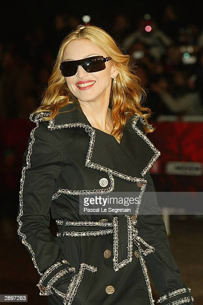 Singer Madonna arrives at the French NRJ Music Awards ceremony during the annual Midem music conference at the Palais des Festivals on January 24...