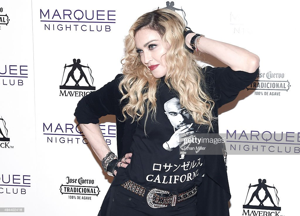 Madonna Hosts Rebel Heart Concert After Party At Marquee Nightclub : News Photo