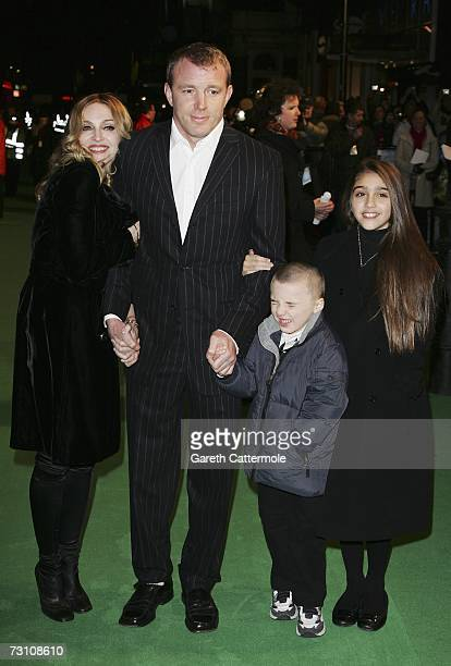 Singer Madonna arrives with her husband Guy Ritchie and children Rocco and Lourdes at the UK Premiere of 'Arthur And The Invisibles' at the Vue West...